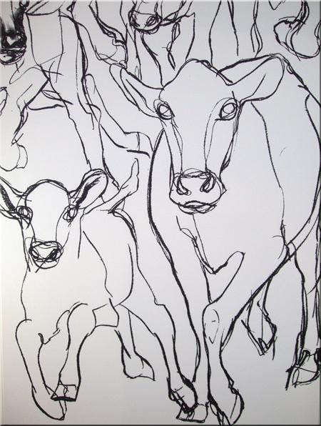 Marimekko 'Kevatjuhla' fabric wall art in black and white 90x120x4cm
