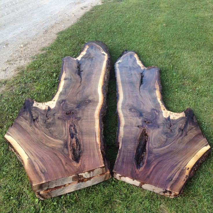 "3"" thick Walnut slabs 38"" at there widest point, if your in Southern Ontario shoot us an email if interested in a slab or two (-:"