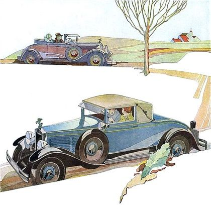 Brennabor Illustration for Car Ad (1928): Graphic by Bernd Reuters