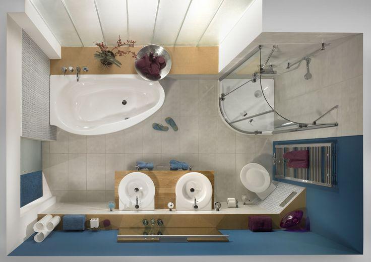 Znalezione obrazy dla zapytania wąska łazienka z wanną