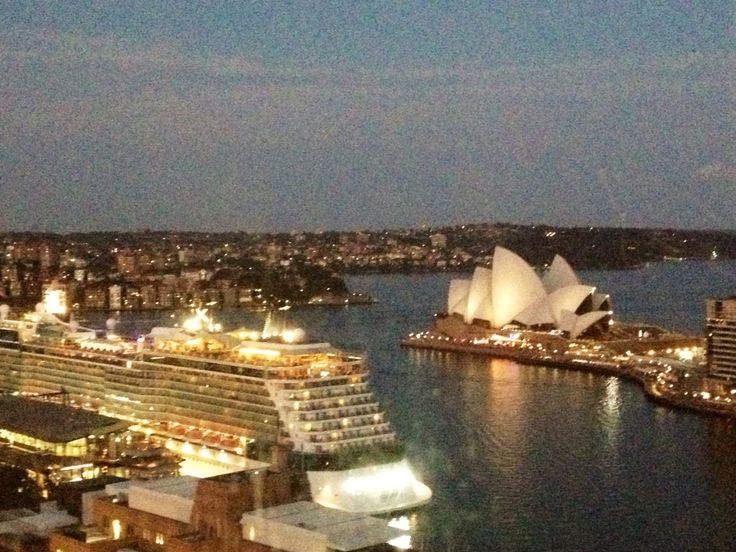 View on Opera House from room at Four Seasons Sydney