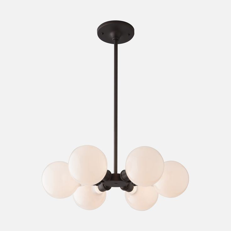 Satellite 6 is the quintessential dining space centerpiece. Stripped down to a sleek build of parts, the exposed sockets of this bare bulb chandelier lend themselves to stylistic versatility.
