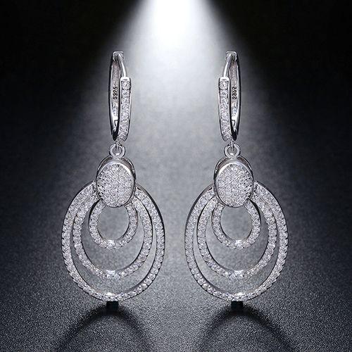 Genuine Sterling Silver Women Dangle Earrings