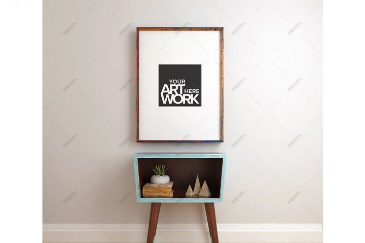Poster Frame Mockup Mid century - Portrait | The Hungry JPEG
