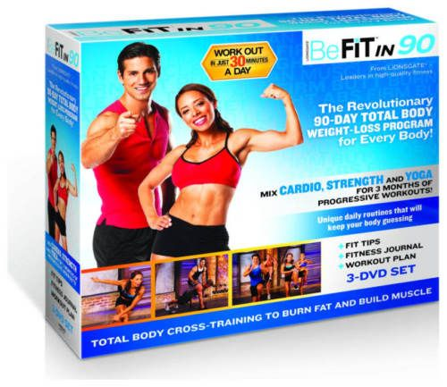 BeFit-In-90-Workout-System-fitness-goals-fat-loss-Weight-loss-DVD-SET
