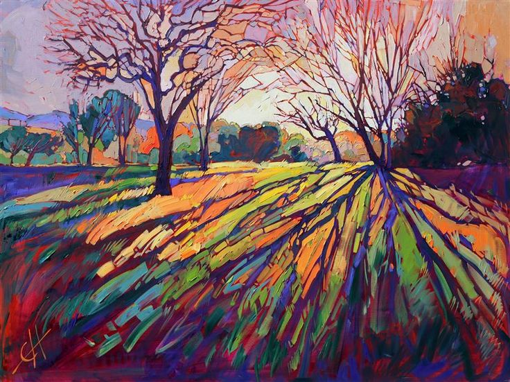 Famous Crystal Light oil painting by American expressionism artist Erin Hanson