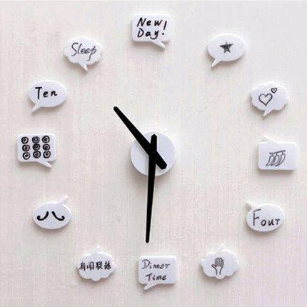 070338 engraçado DIY relógio de parede de moda personalidade criativa casa decoração pode escrever ouvia no módulos frete grátis