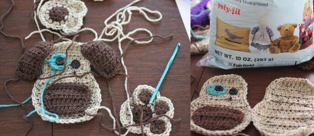 Crochetpedia: 2D Crochet Dog Applique Pattern
