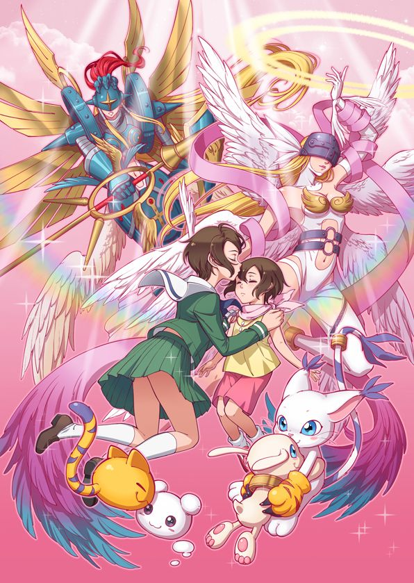 Digimon - Kari with Gatomon's Digivolutions by eclosion