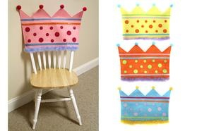 chair back covers for the birthday boy or girl!