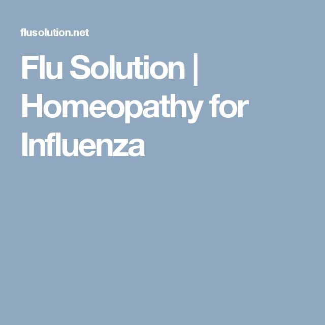Flu Solution | Homeopathy for Influenza