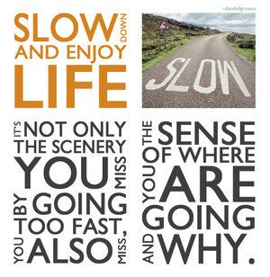S-L-O-W... D-O-W-N...Slowlife, Slow Down, Inspiration, Quotes, Slow Life, Living Life, Enjoy Life, Learning, Blog