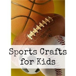 Sports Themed Crafts. Basketball looks easy for younger kids