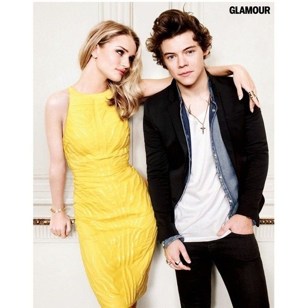 GLAMOUR MAGAZINE Rosie Huntington-Whiteley One Direction by... ❤ liked on Polyvore featuring one direction, harry styles, harry, pics and pictures