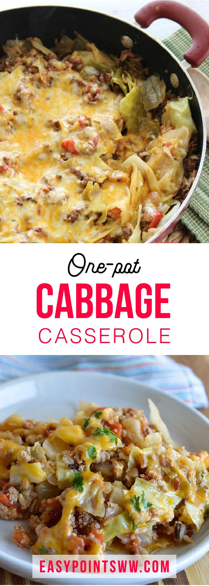 WEIGHT WATCHERS ONE-POT CABBAGE CASSEROLE ♥