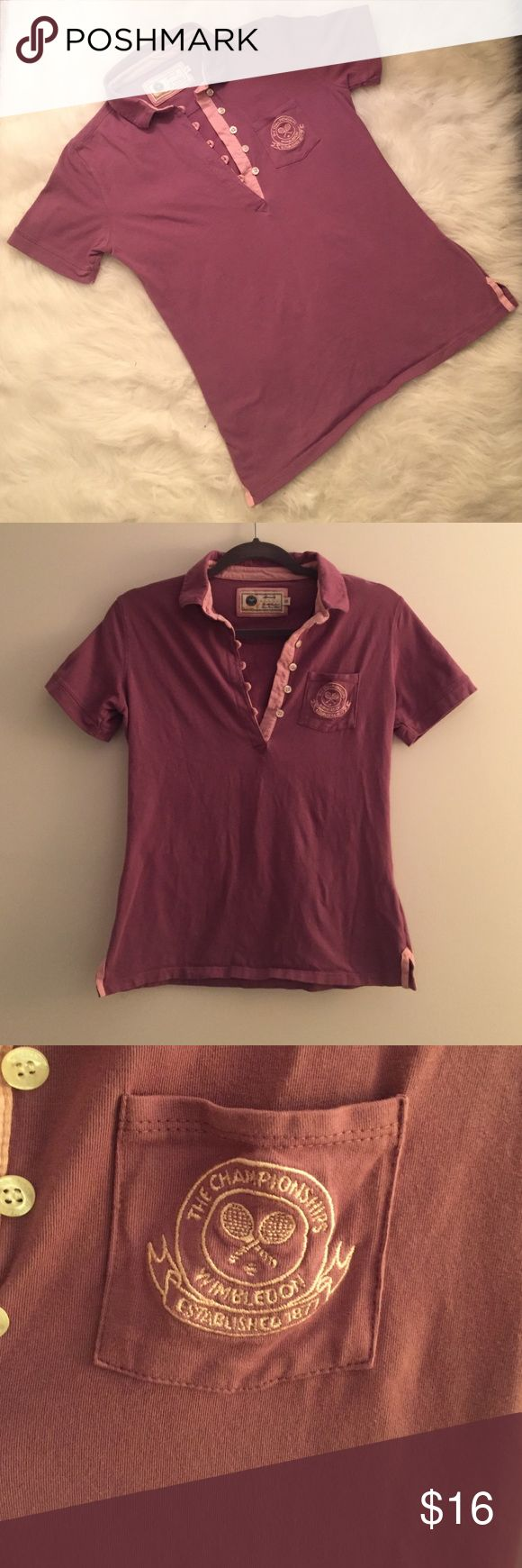 Official Wimbledon Championships Lady's Polo Ladies size 10 Wimbledon Tennis Championships Polo. Approved by the All England Lawn Tennis Club. Comes from a smoke/pet free home. Happy shopping! Wimbeldon Tops Button Down Shirts