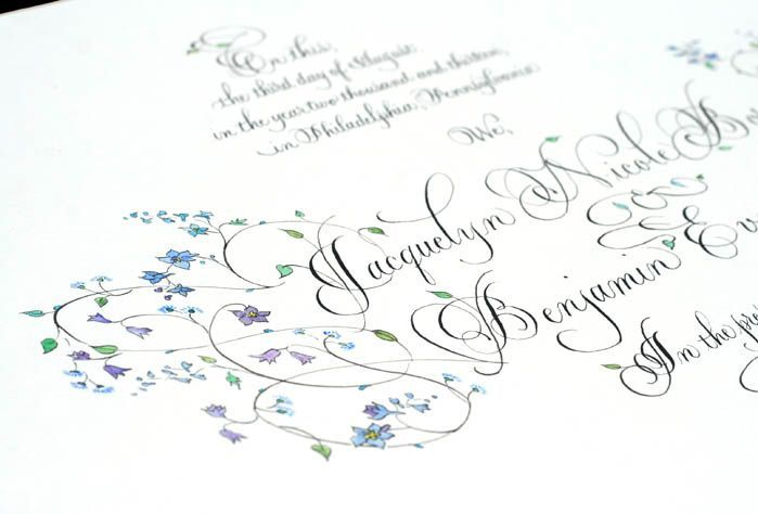 Post image for Quaker Wedding Certificate for Jaci and Ben