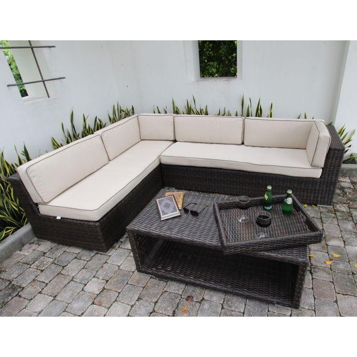 Laredo Sofa And Loveseat: Laredo Wicker 4 Piece Deep Seating Sofa Set
