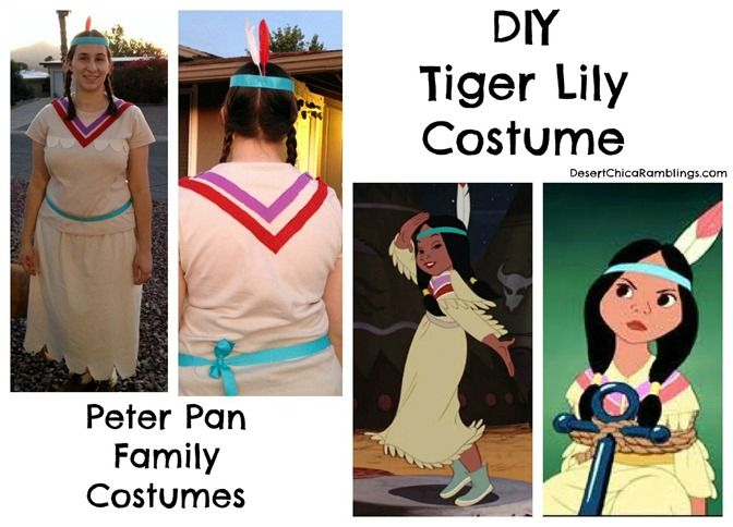 Tiger Lily Peter Pan Family Costume #Halloween #Disney
