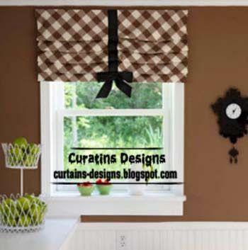 brown roman shade, stylish roman shade for kitchen windows