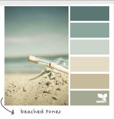 coastal cottage decorating color pallet | Coastal and Beach Decor: Coastal Decor Color Palette - Beached Tones