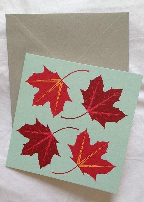 Leaf scarf  leaf card  fall colours  autumn colours  scarf