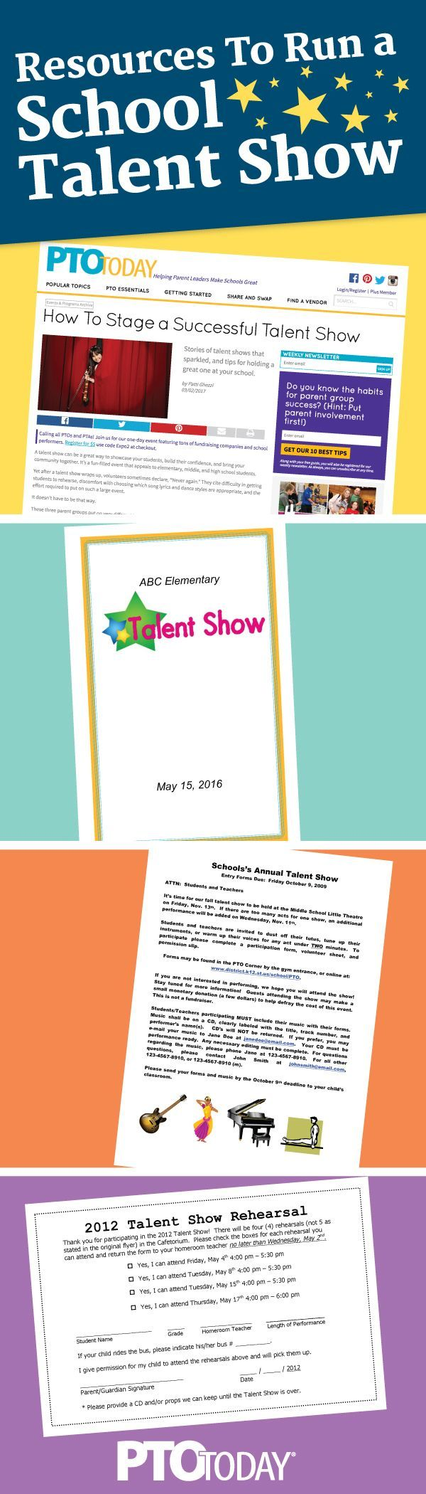 Get our Talent Show resources to help your PTO run a spectacular show!