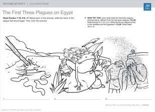 PICTURE ACTIVITIES The First Three Plagues On Egypt Download This Coloring Page And Try To