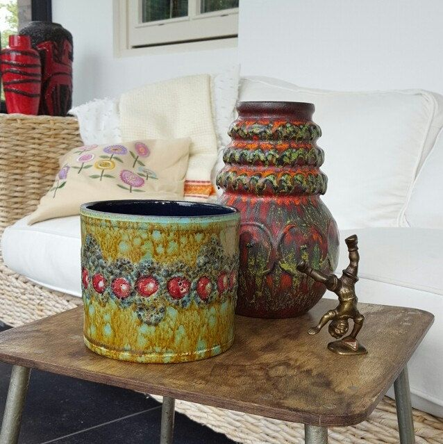 New listings of West German pottery in my shop!
