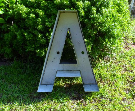 Large Reclaimed Black Channel Letter A 24 Tall 5 Deep