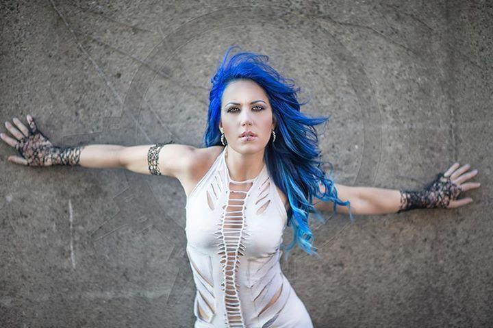 Alissa White-Gluz of Arch Enemy. This women kicks major ass!