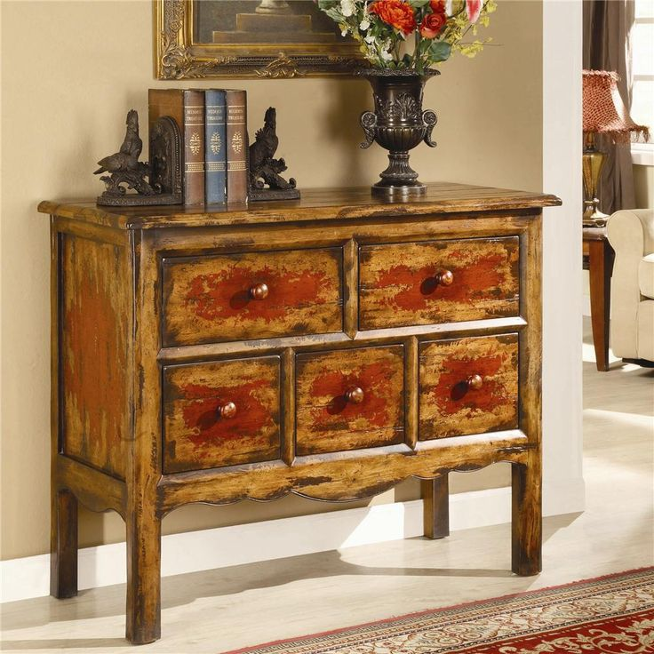 Chests And Consoles Antique 5 Drawer Chest By Hooker Furniture   Riverview  Galleries   Occasional Cabinet