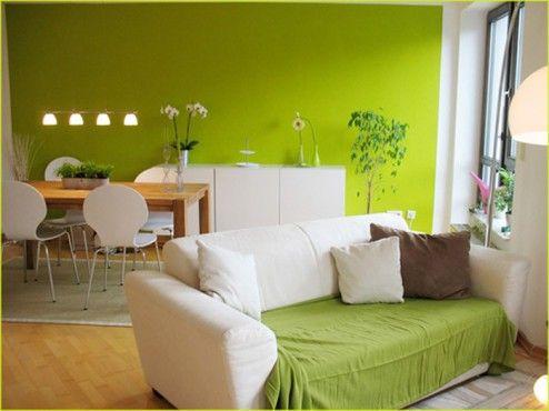 Obývací pokoj v zeleném ladění