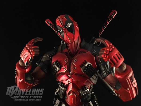 Square Enix Play-Arts Kai Marvel Variant Deadpool Figure Video Review & Image Gallery #Marvel