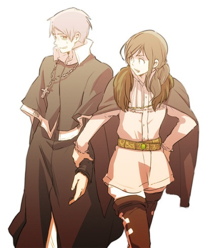 Hetalia_Prussia & Hungary (PruHun if you like, but she might just as well be dragging him into trouble) <<< She probably is