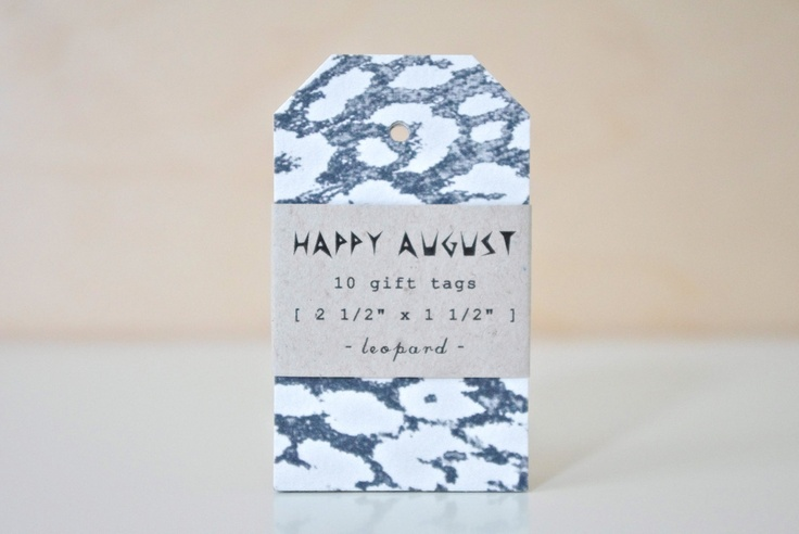 leopard gift tags ++ happy august
