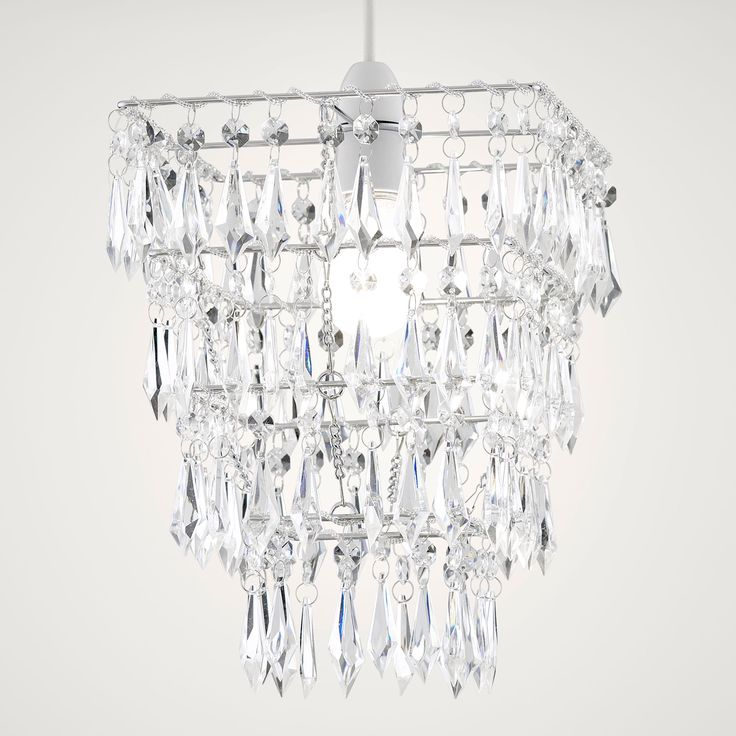 Savannah clear crystal effect 4 tier droplet pendant light shade bq for all your home and garden supplies and advice on all the latest diy trends