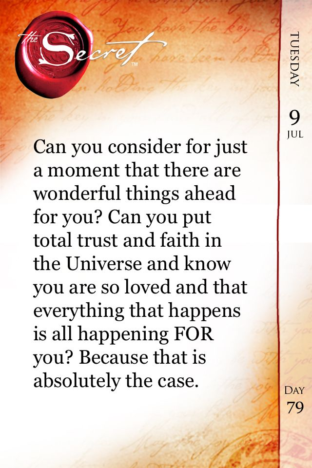 there are wonderful things ahead!