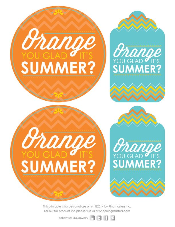 free printable for summer gift