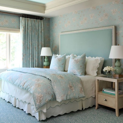 Bedroom Aqua and tangerine Design Ideas, Pictures, Remodel and Decor
