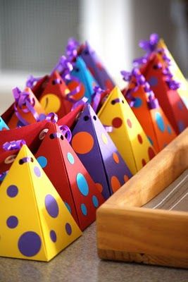 Colourful loot bags