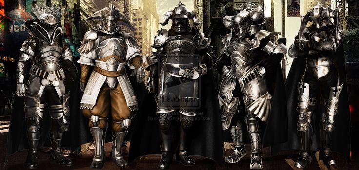 This image shows the High quality of armour.