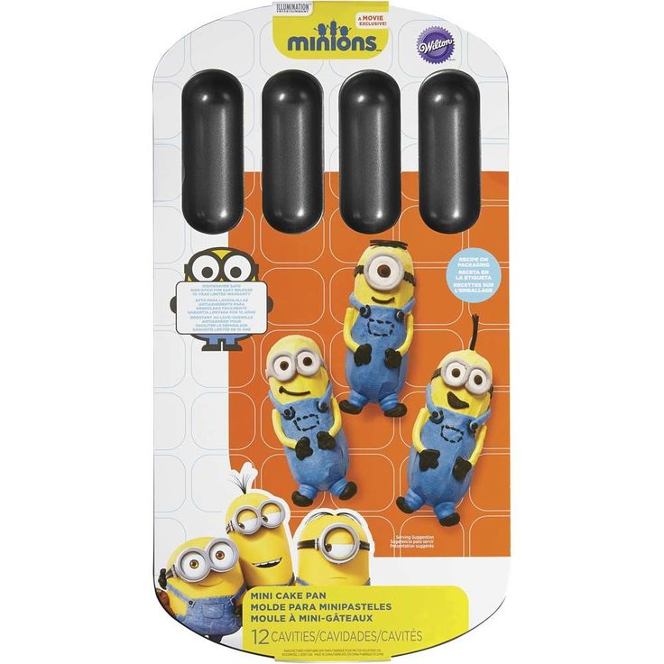 Your themed Minions party is not complete without a matching cake. Use the Minions Cake Pan to bake 12 mini Minions-shaped individual treats.