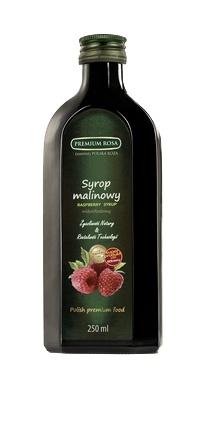 Syrop malinowy. Raspberry syrup. Pachnący, naturalny syrop, taki sam jak z domowej spiżarni. Tworzony naturalną metodą zachował swój wyjątkowy aromat. Wspaniały dodatek do deserów, zwłaszcza budyniów i kaszek, jak również jako napój po rozcieńczeniu. Powszechnie stosowany przy przeziębieniach. Cena: 7,00 zł #Raspberry #Malina #Syrop