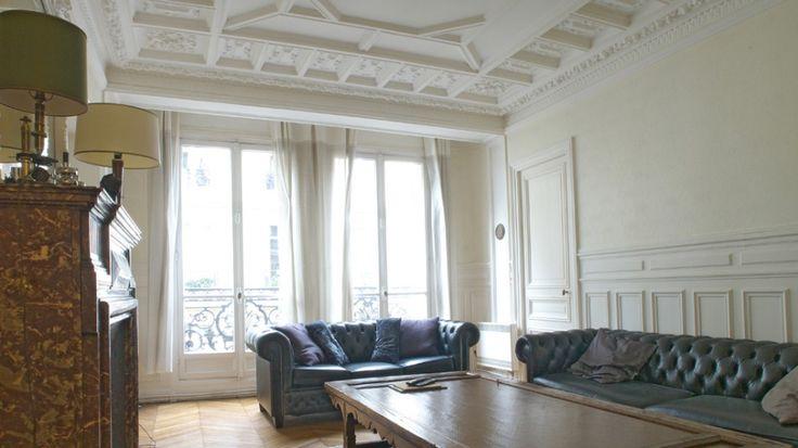 17 meilleures images propos de paris l 39 appartement haussmannien sur pinterest chevrons. Black Bedroom Furniture Sets. Home Design Ideas