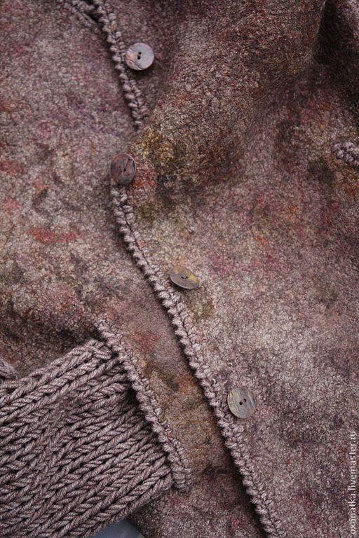Кофты и свитера ручной работы. Ярмарка Мастеров - ручная работа. Купить Валяная куртка  Шебби-шик. Handmade. Бежевый