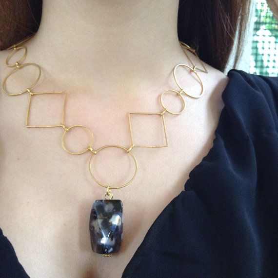 Unique Chunky Chain Necklace with Contemporary by alsoljewels