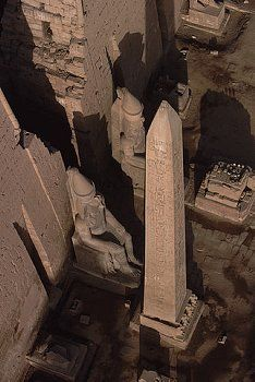 Obelisk and Statues of Ramesses II at the Temple of Luxor in Egypt #egypt