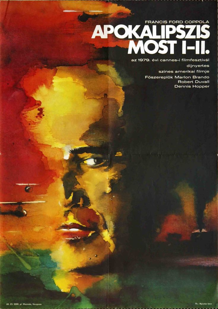 "Apokalipszis most (1979) ""Apocalypse Now""  Hungarian vintage movie poster."