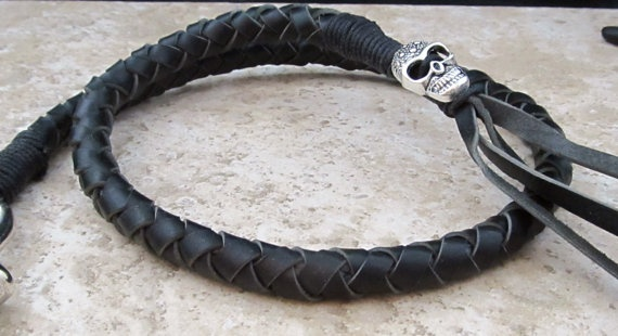 Motorcycle Get Back Whip Black Leather With By